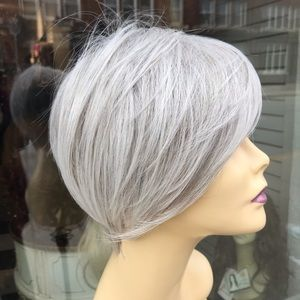 Grey silver Angle pixie Wig bob Wig Hairuwear 2020